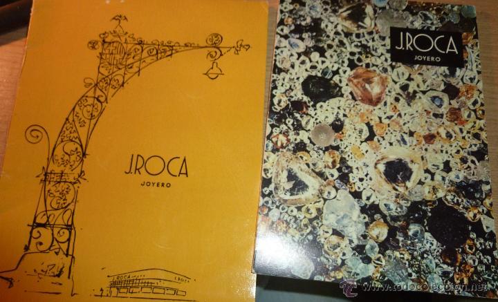 LOTE 2 CATALOGO PUBLICIDAD JOYERIA ROCA BARCELONA 1959 - 1968 JOYERO JOYA (Coleccionismo - Catálogos Publicitarios)