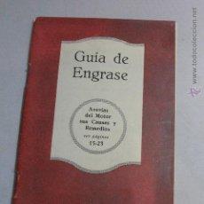 Catálogos publicitarios: ANTIGUO CATÁLOGO, GUIA DE ENGRASE, GARGOYLE, MOBIOILS -DOCG-. Lote 51505834
