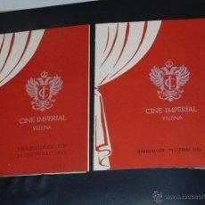 Catálogos publicitarios: CINE IMPERIAL DE VILLENA 1958 VALENCIA - PROYECTO FOTOGRAFICO DEL DISEÑADOR VICENTE MELIO ALFONSO . Lote 51526100