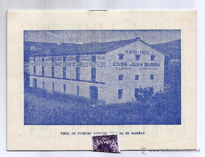 Catálogos publicitarios: BOLETÍN DE PRECIOS Y CONDICIONES DE VENTA -CASA JUAN BARRA- SABIÑÁN (ZARAGOZA) - Foto 2 - 51537371