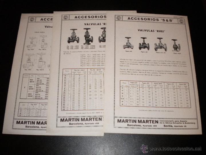 16 HOJAS PUBLICITARIAS DE MARTIN MARTEN (Coleccionismo - Catálogos Publicitarios)