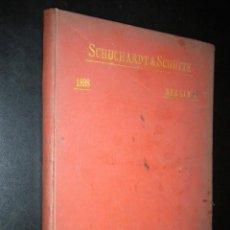 Catálogos publicitarios: SCHUCHARDT & SCHUTTE / BERLIN C / ARTICLES POUR LA CONSTRUCCION DES MACHINES / 1898. Lote 51927374