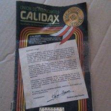 Catálogos publicitarios: PANFLETO DE PROPAGANDA UNIÓN DE FABRICANTES CALIDAX. Lote 51939468