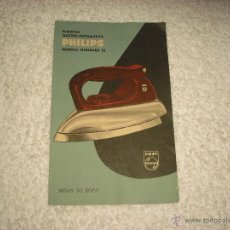 Catálogos publicitarios: PLANCHA ELECTRO-AUTOMATICA PHILIPS ; MODELO STANDARD S2 . TEMPORADA 1962/ 63. Lote 52124075