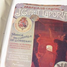 Catálogos publicitarios: CATÁLOGO DE TODO TIPO DE MATERIAL DE FARMACIA Y LABORATORIO. JUAN GIRAL LAPORTA. 1907.. Lote 52279888