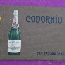 Catálogos publicitarios: CATALOGO CODORNIU, SAN SADURNI DE NOYA, ANTIGUO, ALBUM-VISITA DE LAS CAVAS CODORNIU, 16 IMAGENES. Lote 52639427