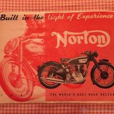 Catálogos publicitarios: CATÁLOGO ORIGINAL DE NORTON DEL AÑO 1947. Lote 52641204