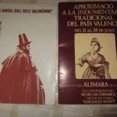 Catálogos publicitarios: PAREJA CATÁLOGOS GRUPO ALIMARA VALENCIA -INDUMENTARIA VALENCIANA - DANZA Y BAILE VALENCIANO. Lote 52759510