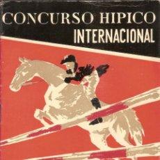 Catálogos publicitarios: PROGRAMA DEL CONCURSO HIPICO INTERNACIONAL - REAL CLUB DE POLO DE BARCELONA 1960. Lote 52871072