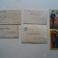 Catálogos publicitarios: FELICITACIONES DE NAVIDAD DE CASAS COMERCIALES Y DE OFICIOS - VER FOTOS. Lote 52886179