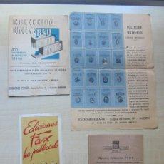 Catálogos publicitarios: 3 FOLLETOS PUBLICITARIOS EDITORIALES DE 1944-45. Lote 52930215