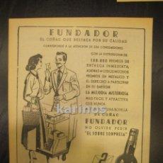 Catálogos publicitarios: 1955 PUBLICIDAD PRENSA FUNDADOR PEDRO DOMECQ. HOJA PUBLICIDAD. Lote 53003249
