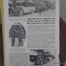 Catálogos publicitarios: RECORTE DE REVISTA AÑOS 30 - AUTOBUSES PARADOS EN CALLE JATIVA -FACHADA BAR REGIO VALENCIA. Lote 45587156