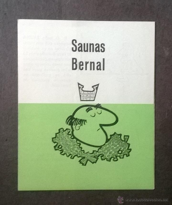 FOLLETO PUBLICITARIO SAUNAS BERNAL - BARCELONA. (Coleccionismo - Catálogos Publicitarios)