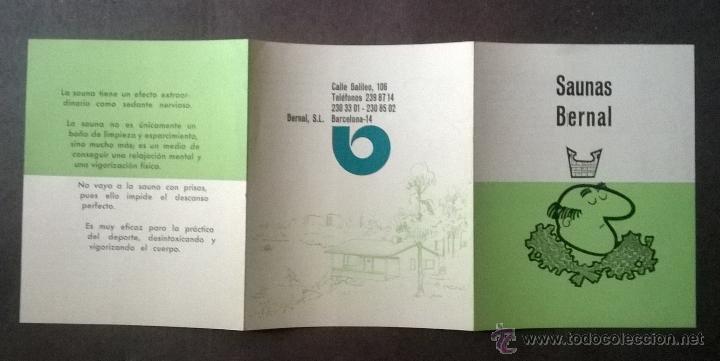 Catálogos publicitarios: FOLLETO PUBLICITARIO SAUNAS BERNAL - BARCELONA. - Foto 3 - 53022963