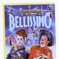 Catálogos publicitarios: FOLLETO DE MANO - CIRCO ITALIANO *BELLISSIMO* EN LLEIDA. Lote 207105573