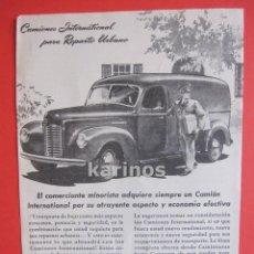 Cataloghi pubblicitari: 1946 PUBLICIDAD PRENSA CAMIONES INTERNATIONAL HARVESTER. Lote 53066398