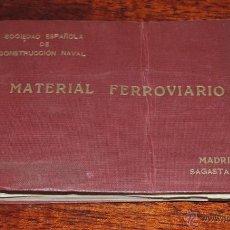 Catálogos publicitarios: ANTIGUO LIBRO DE MATERIAL FERROVIARIO, FERROCARRIL, SOCIEDAD ESPAÑOLA DE CONSTRUCCION NAVAL 1924, 34. Lote 53222803