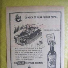 Catálogos publicitarios: 1952 PUBLICIDAD CLUB FUNDADOR. PRENSA RA. Lote 53107514