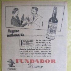 Catálogos publicitarios: 1953 PUBLICIDAD FUNDADOR PRENSA RA. Lote 53120825