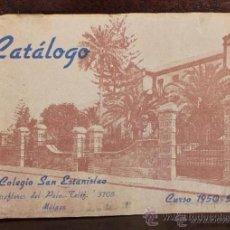 Catálogos publicitarios: ANTIGUO CATALOGO DE LOS ALUMNOS DEL COLEGIO SAN ESTANISLAO DE MALAGA 1950-51. Lote 53160248