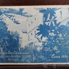 Catálogos publicitarios: ANTIGUO CATALOGO DE LOS ALUMNOS DEL COLEGIO SAN ESTANISLAO DE MALAGA 1951-52 . Lote 53160445