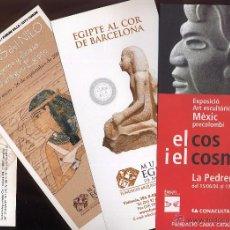 Catálogos publicitarios: PUBLICIDAD DEL MUSEO EGIPCIO DE BARCELONA Y EXPOSICION ARTE PRECOLOMBINO. Lote 53203267