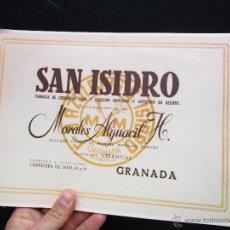 Catálogos publicitarios: CATALOGO SAN ISIDRO GRANADA CERAMICAS LOZA AZULEJOS Y ARTISTICO MORALES ALGUACIL REEDICION. Lote 78483262