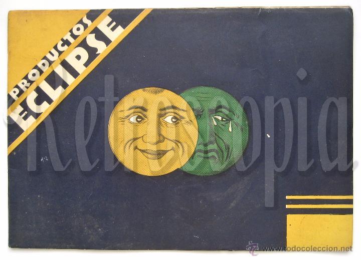 ÚNICO Y PRECIOSO CATÁLOGO DE PRODUCTOS (CREMA) ECLIPSE CIRAGES FRANÇAIS SANTANDER AÑOS 20 - 30 (Coleccionismo - Catálogos Publicitarios)