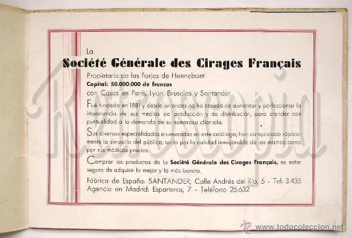 Catálogos publicitarios: ÚNICO Y PRECIOSO CATÁLOGO DE PRODUCTOS (CREMA) ECLIPSE CIRAGES FRANÇAIS SANTANDER AÑOS 20 - 30 - Foto 2 - 53237026