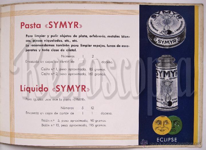 Catálogos publicitarios: ÚNICO Y PRECIOSO CATÁLOGO DE PRODUCTOS (CREMA) ECLIPSE CIRAGES FRANÇAIS SANTANDER AÑOS 20 - 30 - Foto 4 - 53237026