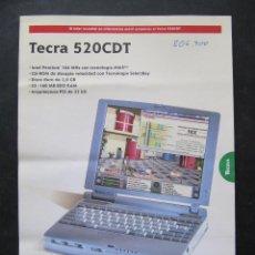 Catálogos publicitarios: PUBLICIDAD ORDENADOR TOSHIBA TECRA 520 CDT. Lote 53340877