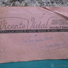 Catálogos publicitarios: BELLO CATALOGO DE VICENTE VIDAL, VALENCIA 1920 - DISEÑOS SELLOS CAUCHO, ESMALTES Y GRABADOS + INFO. Lote 53452692
