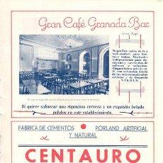 b47ff385a9 publicidad antigua. 1947. gran café granada bar - Comprar Catálogos  publicitarios antiguos en todocoleccion - 53535894