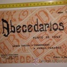 Catálogos publicitarios: ABECEDARIOS PUNTO DE CRUZ. Lote 53576536