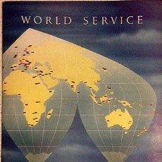 Catálogos publicitarios: WORLD SERVICE. DE HAVILLAND ENGINES. AÑOS 50. FOTOS B/N Y COLOR A TODA PÁGINA. SERVICIOS HAVILLAND. Lote 53602158