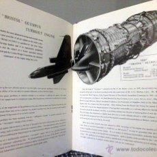 Catálogos publicitarios: BRISTOL OLYMPUS TURBOJET. 1953. PUBLICIDAD CELEBRANDO EL RÉCORD DE ALTURA. AERONÁUTICA. AVIONES. Lote 53609004