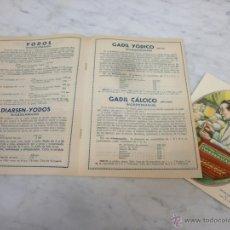 Catálogos publicitarios: ANTIGUO CATÁLOGO - PRODUCTOS WASSERMANN - 1935 - PUBLICIDAD LETICINA Y COLESTERINA - BARCELONA. Lote 53609130