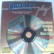 Catálogos publicitarios: ESPECIAL INFORMATIVO DISCOPLAY COMPACT PLAY. Lote 53643002
