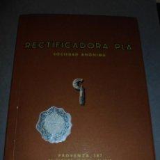 Catálogos publicitarios: CATALOGO - RECTIFICADORA PLÁ ,BARCELONA XXV ANIVERSARIO 1934 - 1959 ILUSTRADO 108 PAG. 21X16 CM. . Lote 53749925