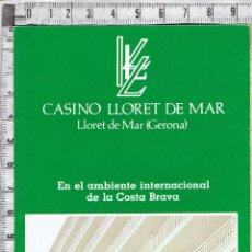 Catálogos publicitarios: FOLLETO PUBLICIDAD CASINO LLORET DE MAR-197X/198X.. Lote 53836741