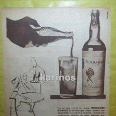 Catálogos publicitarios: 1959 PUBLICIDAD FUNDADOR RR. Lote 53847152