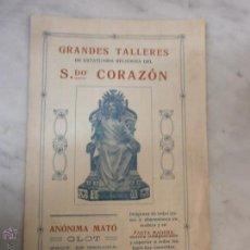 Catálogos publicitarios: ANTIGUO CATÁLOGO - GRANDES TALLERES DE ESTATUARÍA RELIGIOSA - SAGRADO CORAZÓN - OLOT - 1921. Lote 53854743
