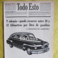 Cataloghi pubblicitari: 1942 PUBLICIDAD AUTOMÓVIL NASH -NA-. Lote 53893226