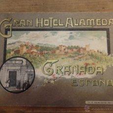 Catálogos publicitarios: GRANADA ESTUPENDO CATÁLOGO GRAN HOTEL ALAMEDA GRANADA AÑO 1910-1920. Lote 54035220