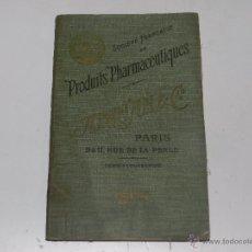 Catálogos publicitarios: CATALOGO FARMACIA - SOCIETE FRANÇAISE DE PRODUITS PHARMACEUTIQUES ADRIAN & CIA , PARIS 1904. Lote 54059122