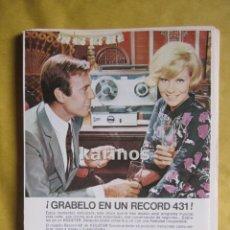 Catálogos publicitarios: 1967 PUBLICIDAD MAGNETOFÓN KOLSTER. LEACRIL (DOBLE) -NA-. Lote 95106212