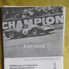 Catálogos publicitarios: 1967 PUBLICIDAD BUJÍAS CHAMPION -NA-. Lote 54071655