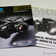 Catálogos publicitarios: CAMARA MINOLTA 7000. 24 PAG. 21X30CM. EN INGLÉS. Lote 136366792