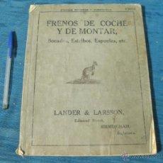 Catálogos publicitarios: MAGNIFICO CATALOGO DE FRENOS DE COCHE Y DE MONTAR, BOCADOS, ESTRIBOS, ESPUELAS, ETC LANDER LARSSON.. Lote 54296552